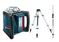 Вращающийся лазерный дальномер Bosch grl 500h set + приемник lr50 + штатив bt170 + патч gr240