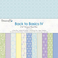 "Скрапбумага ""Back to Basics IV"" Dovecraft, 20х20 см, 12 шт."