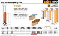 Cmt фреза прямая с подшипником нижнем hm и=50,8 d=19 s=12