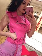 Женская стильная укороченная кожаная жилетка (4 цвета)