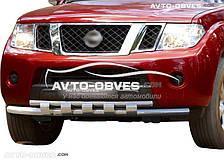 Кенгурин двойной ус с грилем для Nissan Patfinder 2005-2010
