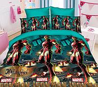 """Детский комплект постельного белья """"Железный человек."""""""