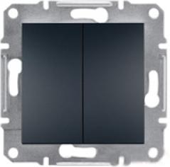 Schneider Asfora Plus Механизм выключателя 2-клавишный антрацит