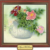 Схема для вышивки бисером «Цветы в вазе»