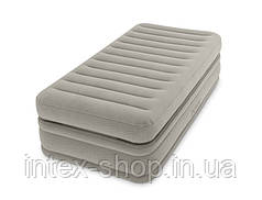 Надувная кровать со встроенным насосом 220В 99х191х51см Intex 64444