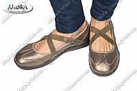 Женские туфли бронзовые (Код: 1-17А)