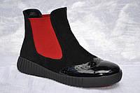 Ботинки женские кожаные под спорт