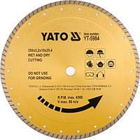 Алмазный диск для керамики и строительных материалов Yato 300x25x4мм YT-5983