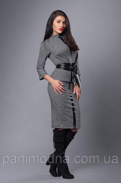 """Модный костюм с кожаным поясом  - """"Чикаго"""" код 269"""