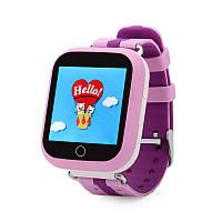 Оригинал! Умные часы Q100S, Smart Baby Watch Q100 c GPS трекером Розовый