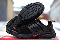 Кроссовки Nike Air Presto черные с красным 1740