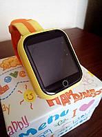 Оригинал! Умные часы Q100S, Smart Baby Watch Q100 c GPS трекером Оранжевый