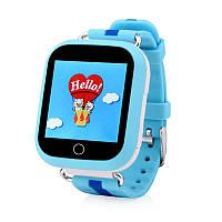 Оригинал! Умные часы Q100S, Smart Baby Watch Q100 c GPS трекером Голубой