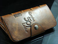 Кошелек мужской бумажник визитница Bailini длинный 501 с вырезами