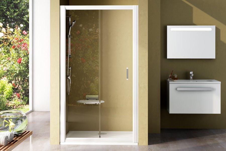 Душевая дверь RAVAK NRDP2-110 L/R сатин+transparent