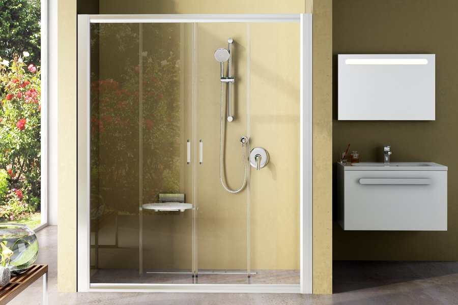Душевая дверь  RAVAK NRDP4-120 белый+transparent