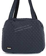 Стильная оригинальная стеганная женская текстильная сумка art. AX08 синяя Украина