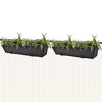 Балконні горщики для квітів з штучного ротангу 2 х 80см