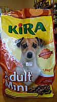Корм сухой для собак(для взрослых мини), мини крокеты,  Kira Adult Mini, 1,5 кг, Италия, фото 1