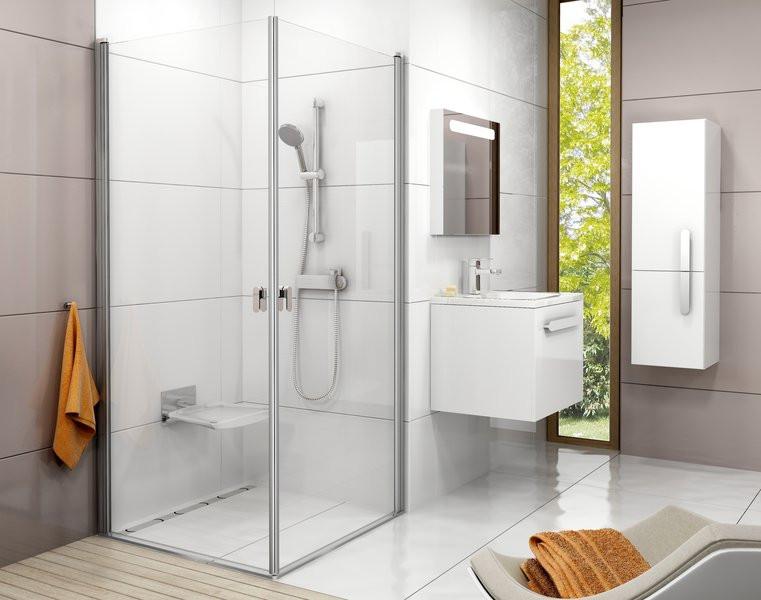 Душові двері RAVAK CRV1-80 білий+Transparent 1QV40101Z1
