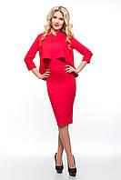 Элегантный женский красный костюм  SO-14080-RED ТМ Alpama  48-54 размеры