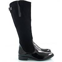 Женские черные сапожки 2510-06
