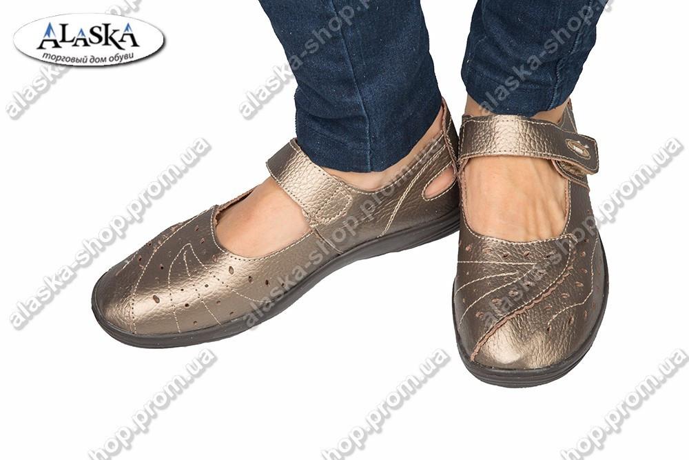 Женские туфли бронзовые (Код: 2-1А)