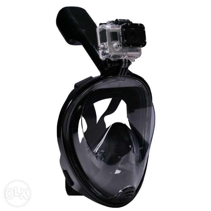 Дайвинг маска Tribord Easybreath Black для подводного плавания (сноркелинга) c креплением для камеры GoPro - ** Мастер - Маркет ** - нарды, шахматы, сувениры, подарки ручной работы, мебель и многое другое. в Харькове