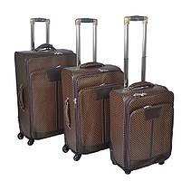 Комплект деловых чемоданов из кожзама на колесах KZ - Переплеты
