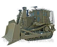 Бронированный бульдозер Caterpillar D9R, используемый Армией обороны Израиля