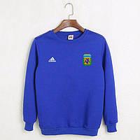 Футбольный свитшот (кофта) сборной Аргентины-Адидас, Argentina-Adidas, синий, ф4481