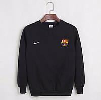 Футбольный свитшот (кофта) Барселона-Найк, Barcelona, Nike, черный, ф4493