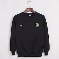 Футбольный свитшот (кофта) Бразилии-Найк,  Brazil, Nike, черный, ф4502