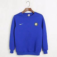 Футбольный свитшот (кофта) Интер-Найк,  Inter-Nike, синий, ф4510