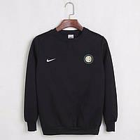 Футбольный свитшот (кофта) Интер-Найк,  Inter-Nike, черный, ф4511