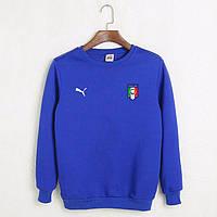 Футбольный свитшот (кофта) Сборной Италии-Пума, Italy-Puma, синий, ф4515