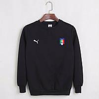 Футбольный свитшот (кофта) Сборной Италии-Пума, Italy-Puma, черный, ф4516
