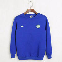Футбольный свитшот (кофта) Манчестер Сити-Найк, Manchester city-Nike, синий, ф4521