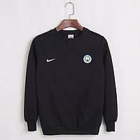 Футбольный свитшот (кофта) Манчестер Сити-Найк, Manchester city-Nike, черный, ф4522