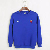 Футбольный свитшот (кофта) Рома-Найк, Roma-Nike, синий, ф4539
