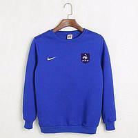Футбольный свитшот (кофта) Франции-Найк, France-Nike, синий, ф4547