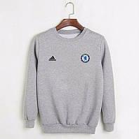 Футбольный свитшот (кофта) Челси-Найк, Chelsea-Nike, серый, ф4549