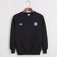 Футбольный свитшот (кофта) Челси-Найк, Chelsea-Nike, черный, ф4551