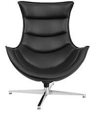 Дизайнерское кресло Ретро черное, модное мягкое кресло Swivel Cocoon, Доставка бесплатная на Деливери, фото 2