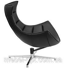 Дизайнерское кресло Ретро черное, модное мягкое кресло Swivel Cocoon, Доставка бесплатная на Деливери, фото 3