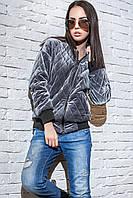 Женская велюровая куртка-бомбер Morgan