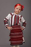 Украинская плахта для девочки, красная