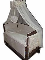 Акция!!! Лучшая кроватка маятник Малыш темная+ матрас кокос + постельный набор 8 эл. Отличное качество.