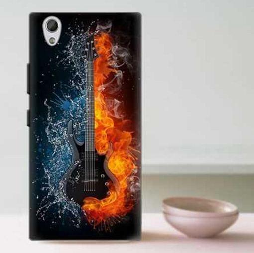 Эксклюзивный бампер с принтом для Lenovo P70 Гитара