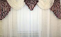 Ламбрекен из плотной ткани  на карниз 3м. №66